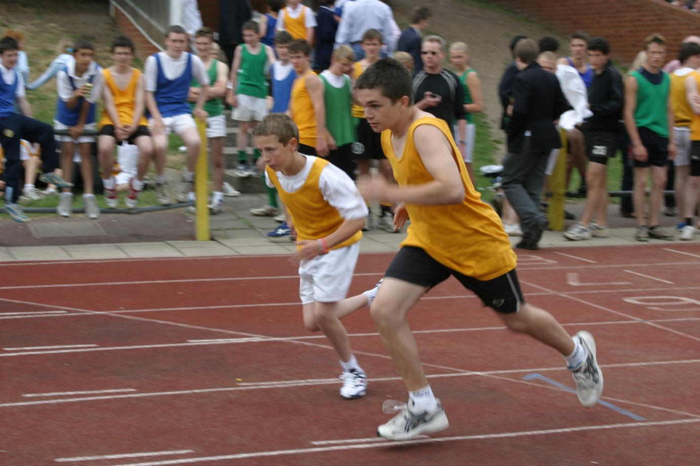 Sam Booth & Josh Gilmore-Jones Sports Day 2005.JPG